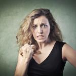 Aggressive woman